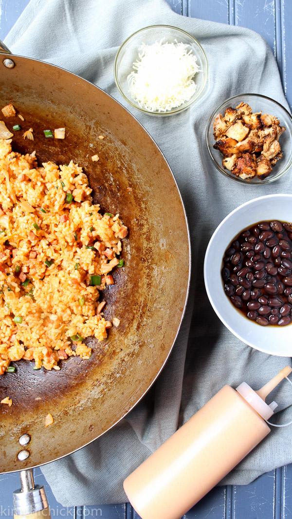 Spicy Korean Chicken Burrito