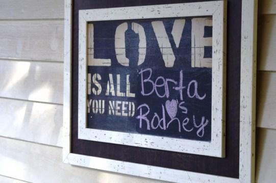 Congratulations Berta and Rodney!