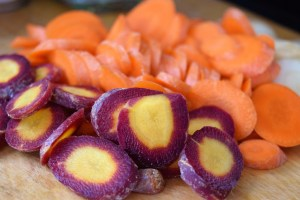 Chopped heirloom carrots http://17thstreetkitchen.com/wp-content/uploads/2017/01/DSC_0286-2.jpg