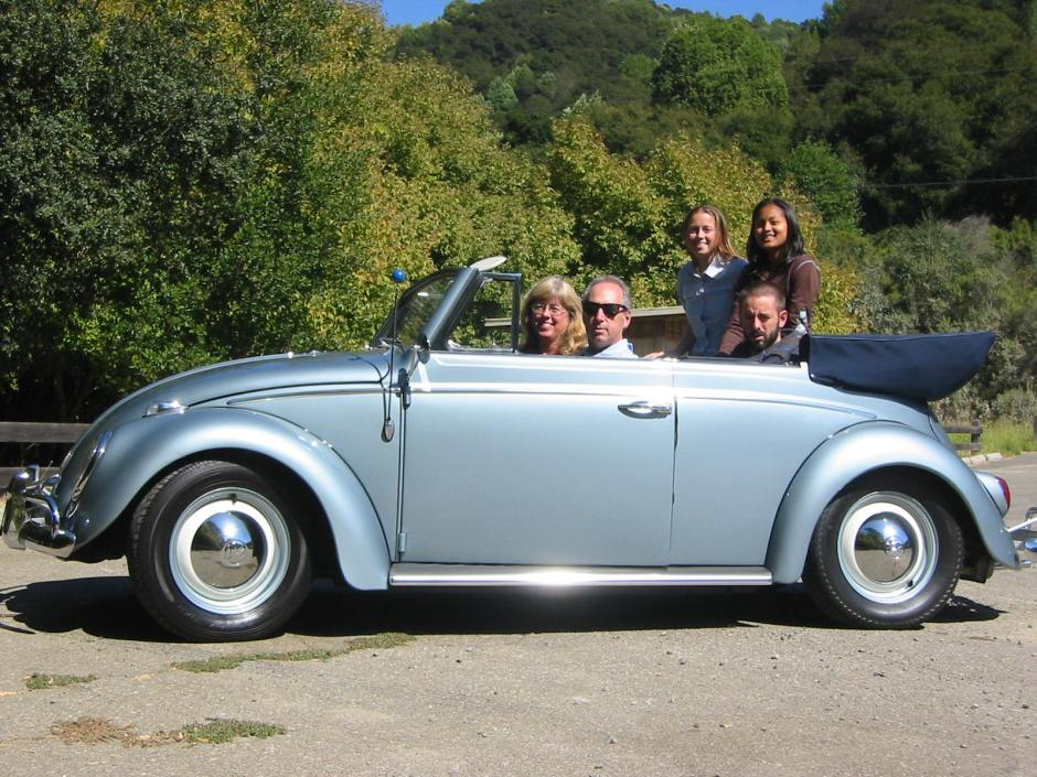 Joe Blackman VW Beetle with Family