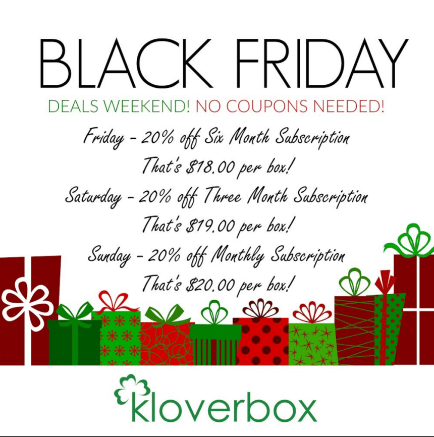 Kloverbox holiday sale