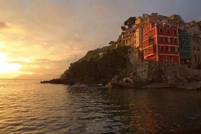 Cinque Terre - Riomaggiore sunset  Buy Now