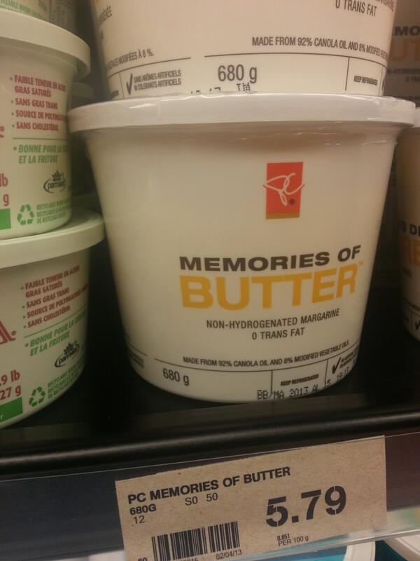Saddest name for a butter substitute