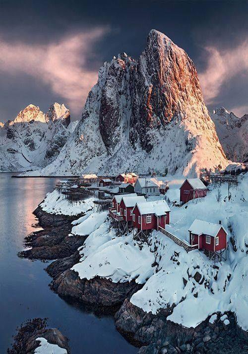 Sunset in Lofoten, Norway