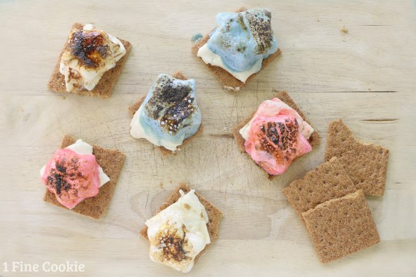 whiskey, marshmallows, infused, liquor, s'mores, smores, red, white, blue, star, shaped, toasted, white chocolate, graham cracker, idea, alcohol, july, 4th, independence, day, dessert, american, america, idea, camping, grownup, adults,