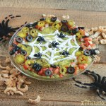 halloween spider web dip idea , halloween, web, spider, dip, party, idea, food, recipe, easy, tex mex, layered, video, spooky, keto, guacamole, taco, Mexican,