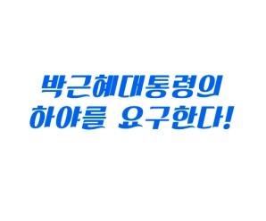 박근혜 대통령의 하야를 요구한다