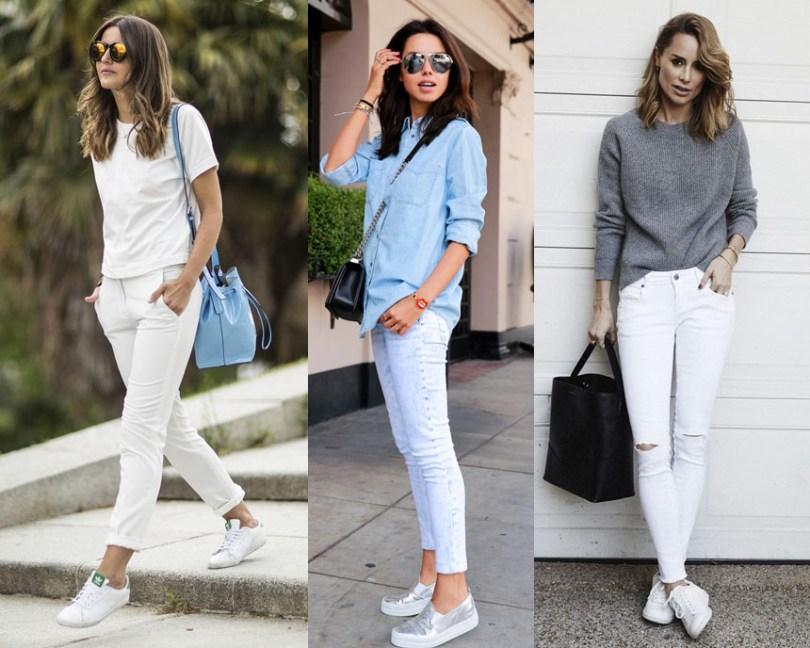 jean blanco zapatillas
