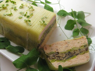 Salmon Terrine with Leeks and Mushrooms in Vodka Cream – PROSPECT THE PANTRY