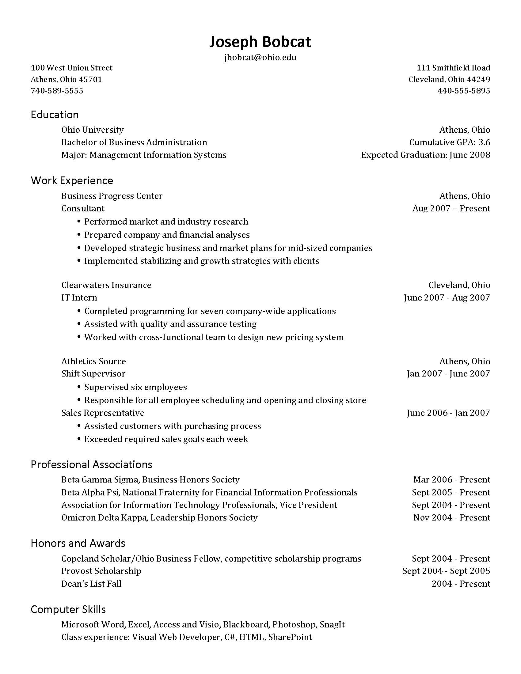 resume set up 27042017 resume template executive resume samples