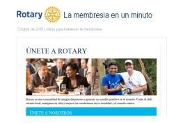 Rotary La membresia en un minuto