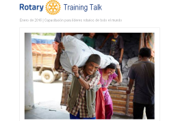 Rotary Training Talk