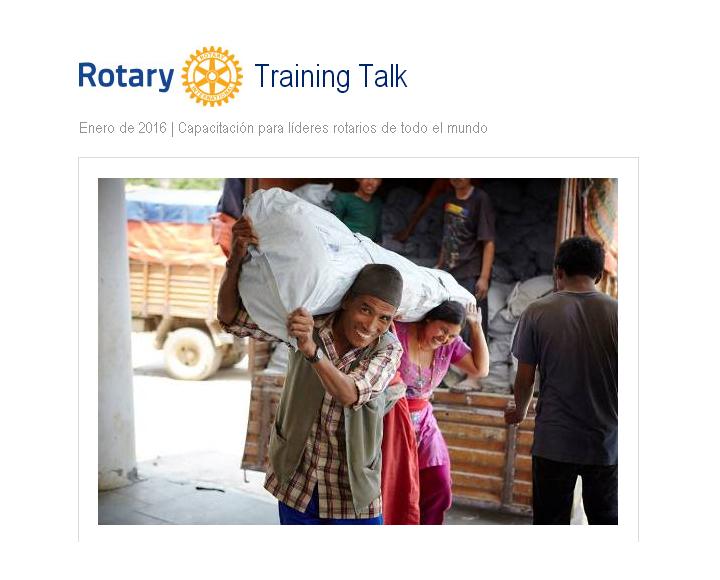 Rotary Training Talk