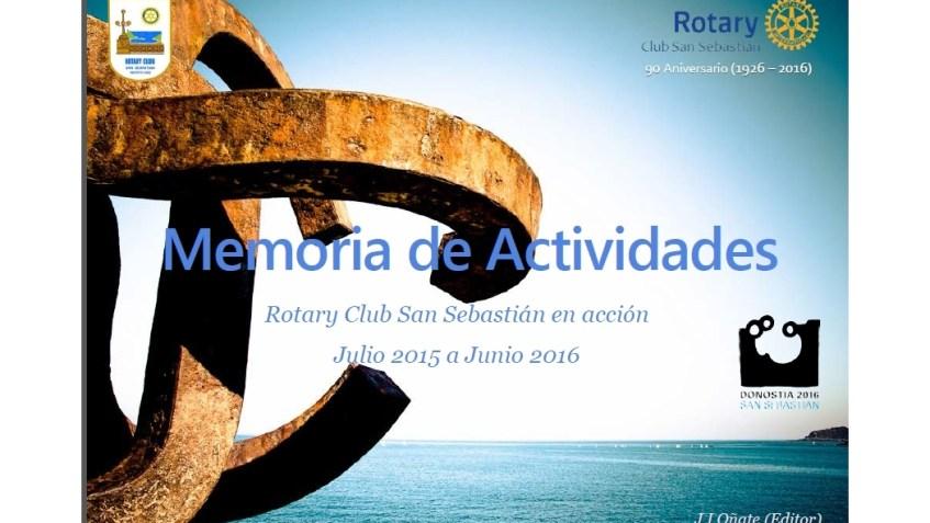 Memoria 2015-16 RC San Sebastián