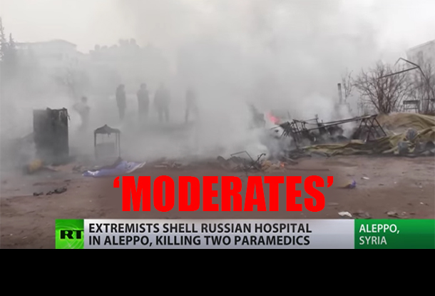 US-backed 'Moderate Rebels' Target Russian Humanitarian Field Hospital, Killing 2 Nurses and Injuring Others
