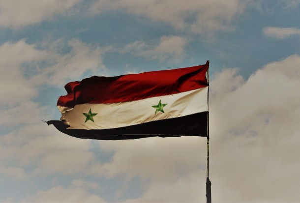 SYRIA: Syrian Arab Republic Flag Flies Again over the Al Fijah Springs
