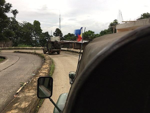 driving through Marawi