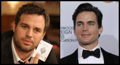 Imagine Mark Ruffalo and Matt Bomer having hot gay sex.