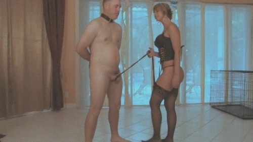 femdom cock leash party