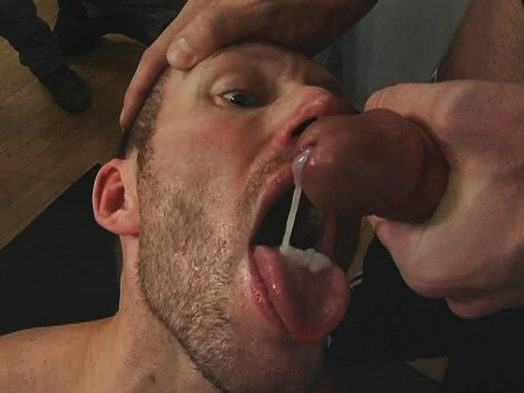 close up cum in mouth