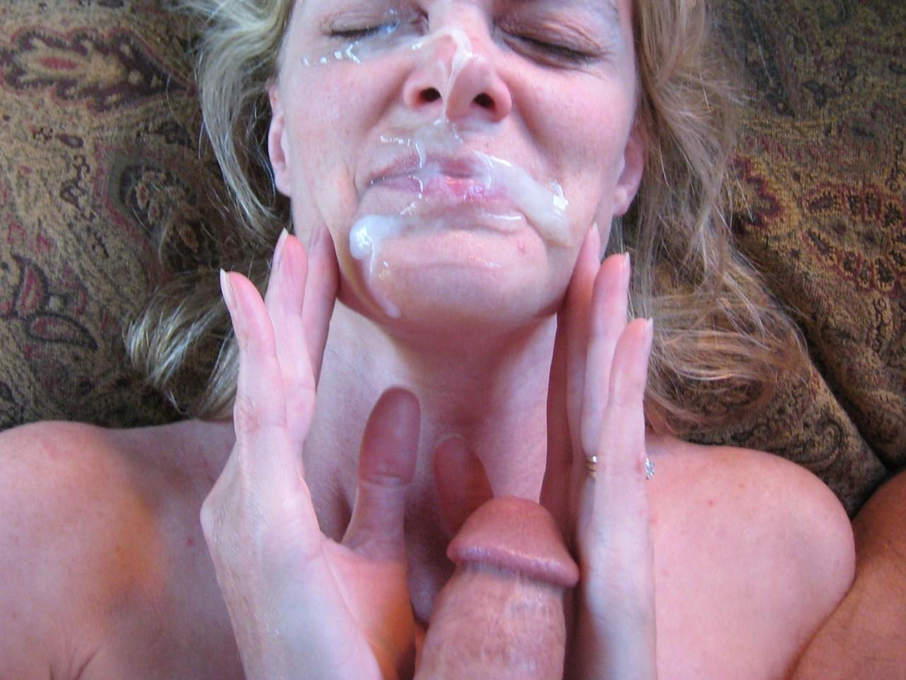 amateur handjob cumshot wife