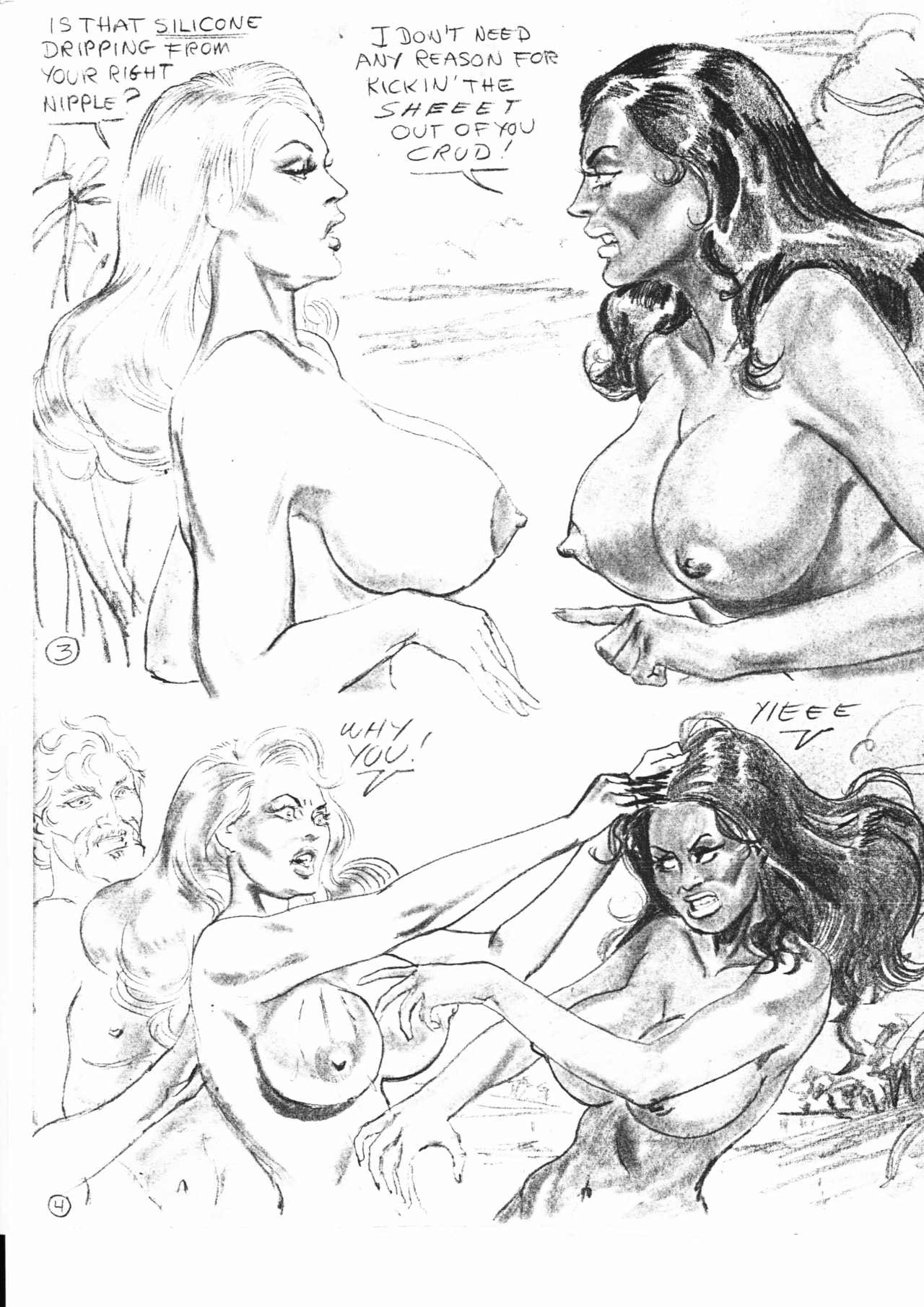 catfight drawings