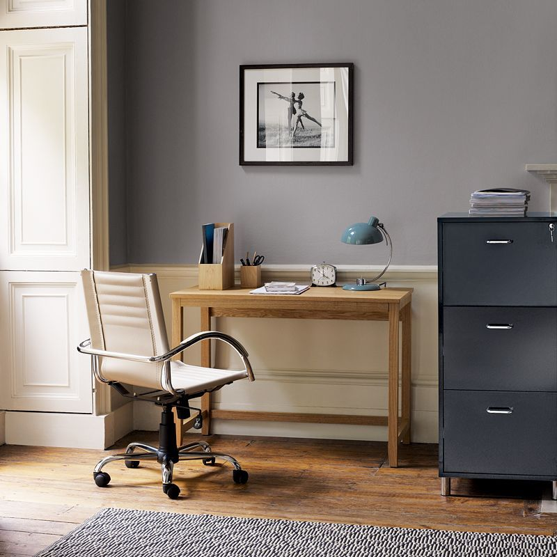 John Lewis Loft Office Furniture: Smart, contemporary office furniture mde from hand selected solid oak and oak veneers, and finished with a natural lacquer. 