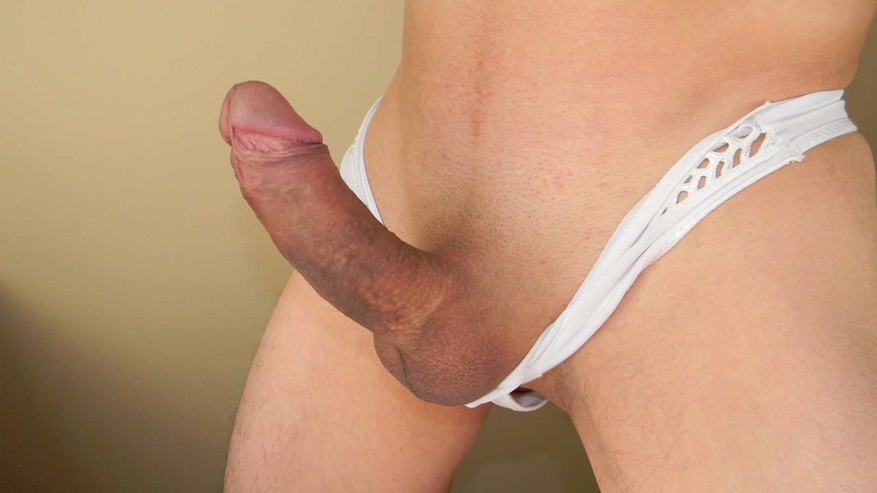 erect dick in underwear