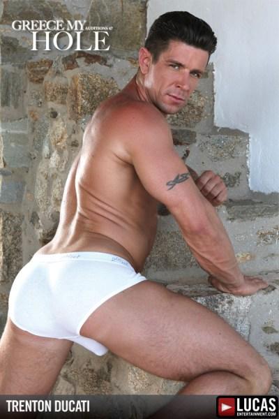 Gay porn stars Trenton Ducati and Vito Gallo in Greece My Hole.