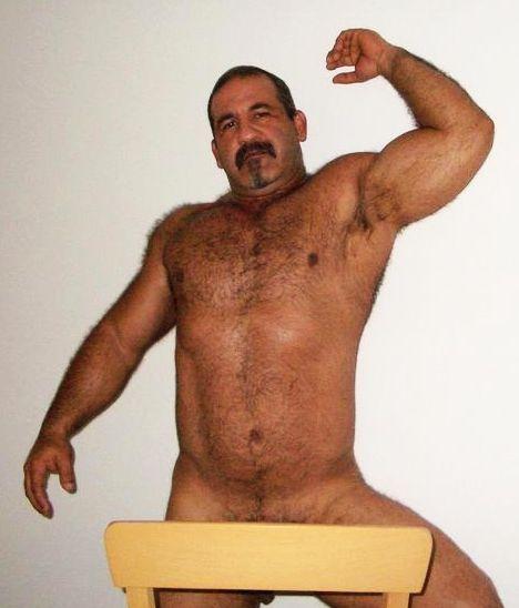 hairy older man