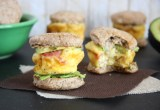 Mini_Egg and Whole Wheat Biscuit Sandwiches // 24 Carrot Life #eggs #breakfast
