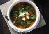 Easy White Bean & Greens Soup // 24 Carrot Life #glutenfree #paleo #vegetarian