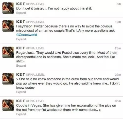 Unfortunately of her, Ice T. isn't buying it.