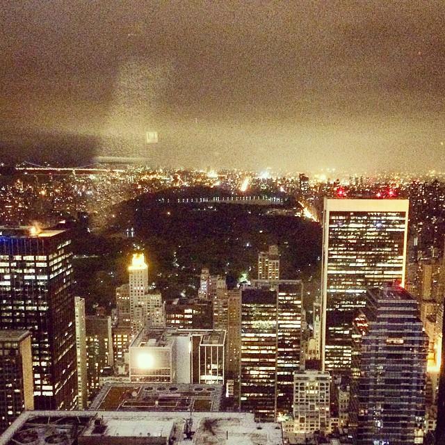 The view of #NewYorkCity from #rainbowroom #rockefellercenter