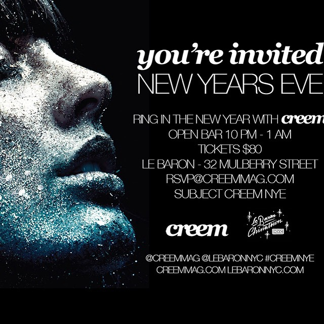 Get ready for the #newyearseve#creemmag #nye #party at #lebaron Music by @keiichironakajima and many more #creemnye #lebaronnyc #chinatown #nyc