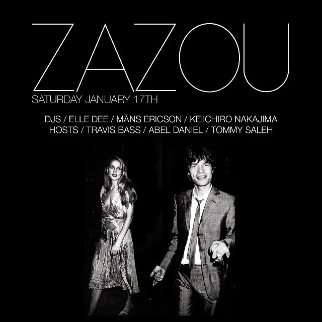 Tomorrow, Saturday night at #Zazounyc We party with @elledeenyc @mansrollerboys @keiichironakajima @travisthebass @abelhdaniel & @tommysaleh #NYC #party #karaoke