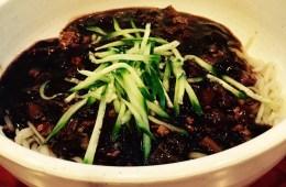 jajangmyeon, korean black bean noodles