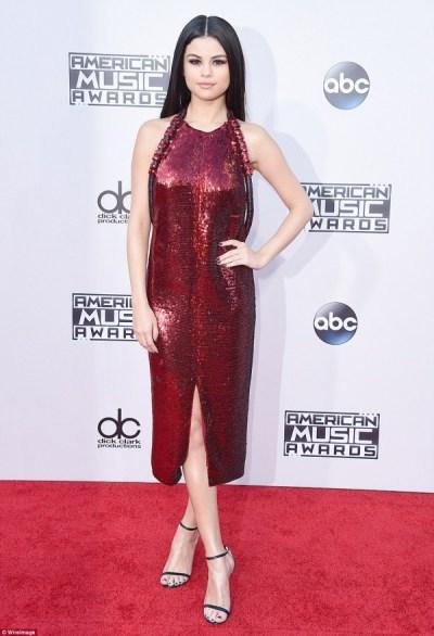 Selena Gomez red dress photoshoot 2016-2017   B2B Fashion