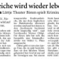 Lüttje Theater Bimm - Pressebericht in OZ