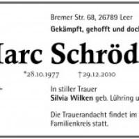 Tschüß, Marc Schröder