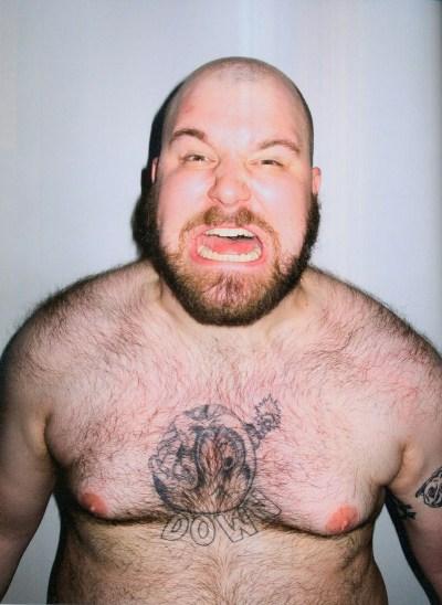 Damian Abraham shirtless, half naked by Terry Richardson