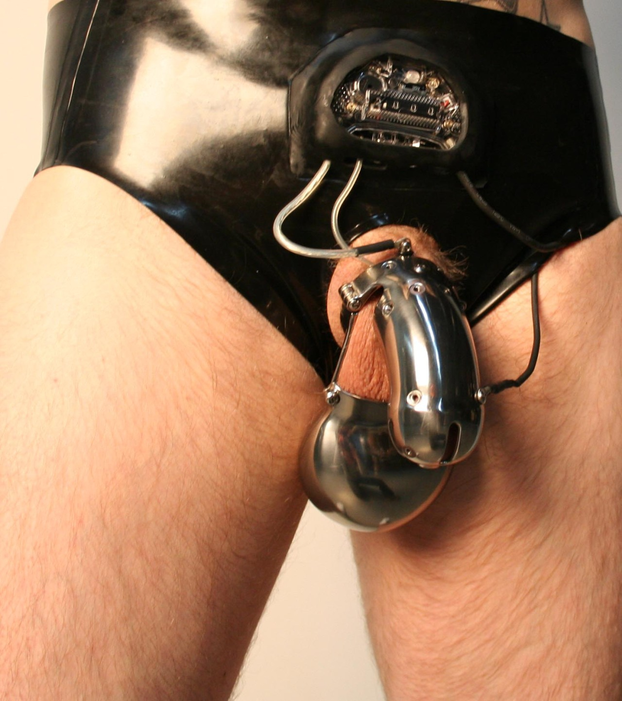 male butt plug and chastity