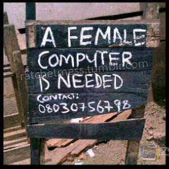 what does a female computer look like exactly….