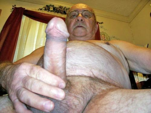 old men showing big cocks