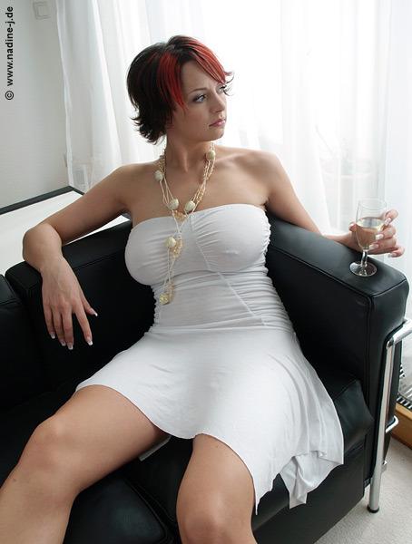nadine j. de models redhead