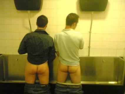 hung men at urinal