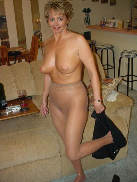women in nylon stockings