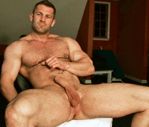 hairy muscle daddy and son