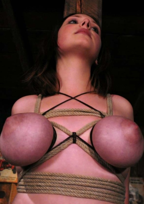 big tits tied and milked