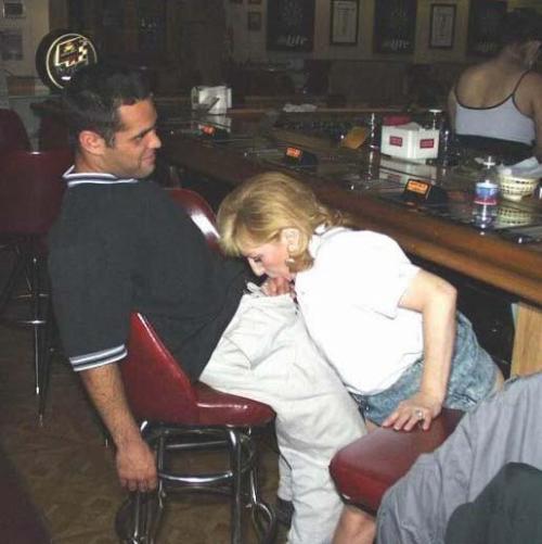 felt up wife at bar